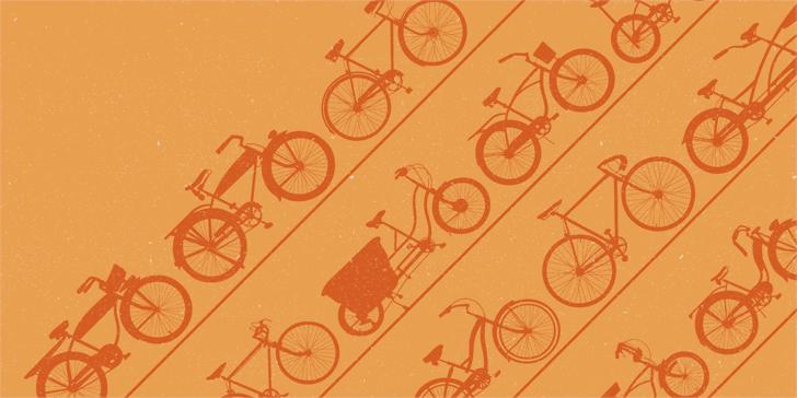 BIKES Font bicycle design
