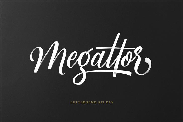 Megattor DEMO Font design typography