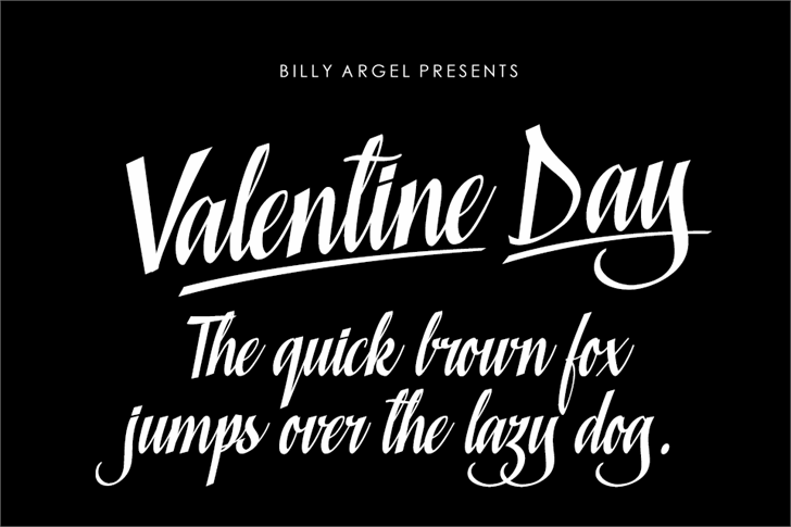 Valentine Day Personal Use Font design text