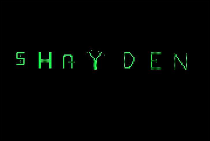 Shayden Font screenshot clock
