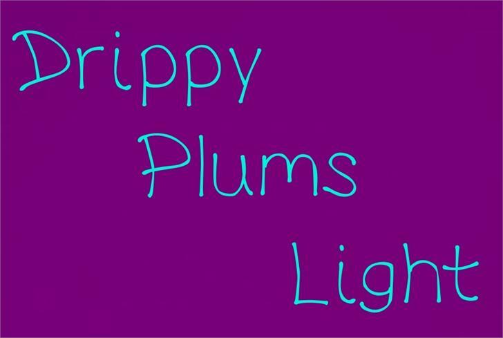 DrippyPlumsLight font by UpandIt