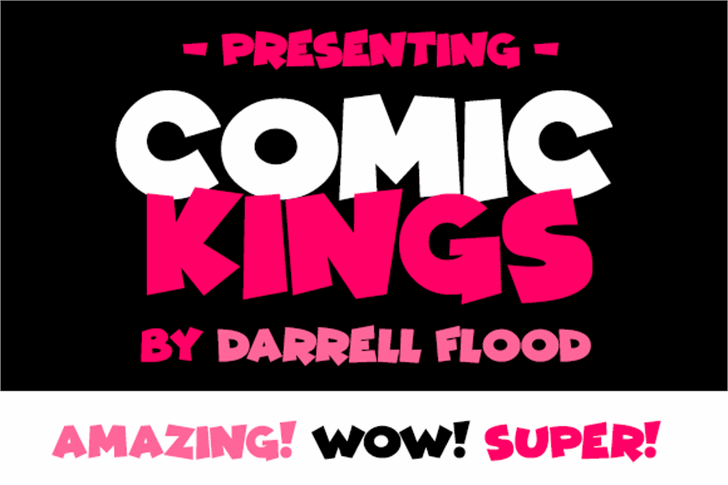 Comic Kings Font poster graphic