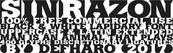 SinRazon Font design poster