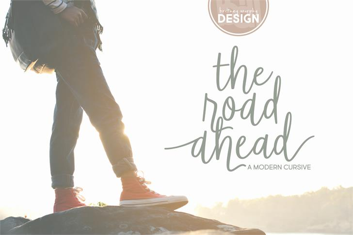 The Road Ahead Font person handwriting