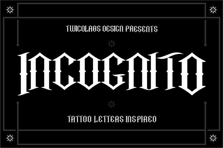 Incognito Font design graphic