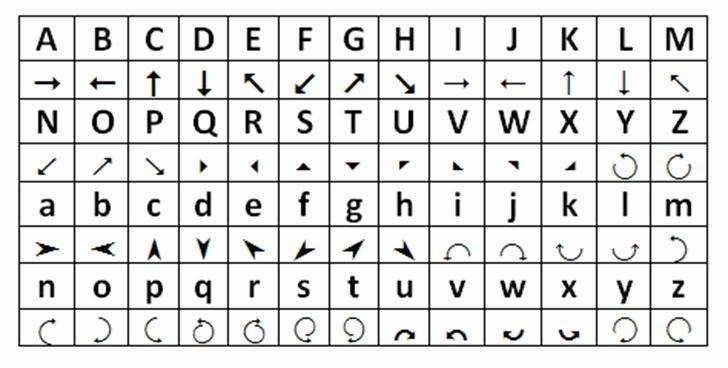 Arrows Font line pattern