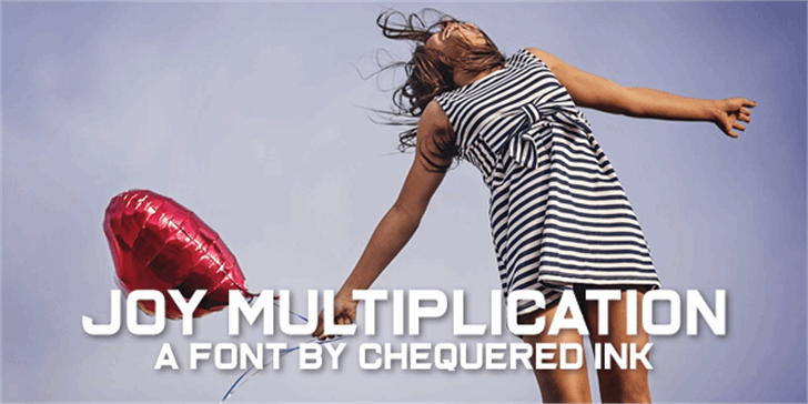 Joy Multiplication font by Chequered Ink