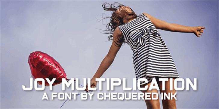 Joy Multiplication Font person woman