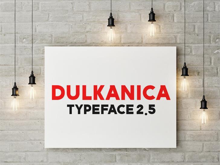 Dulkanyca Font poster sign