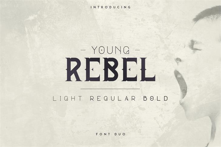 YOUNG REBEL FONT text design