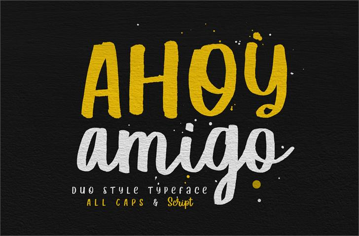 Ahoy Amigo DEMO Font poster typography