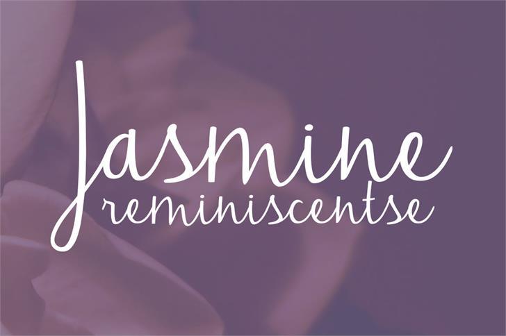 Jasmine Reminiscentse Font design typography