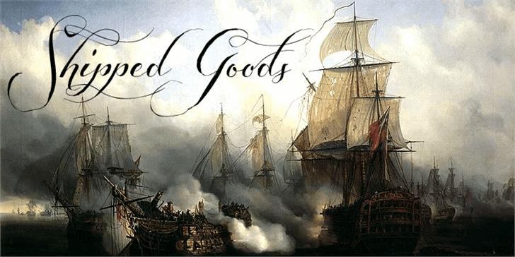 Shipped Goods Font ship outdoor