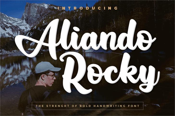 Aliando Rocky Font poster