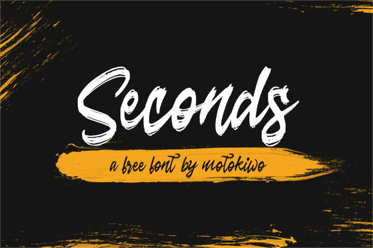 Seconds Font text design