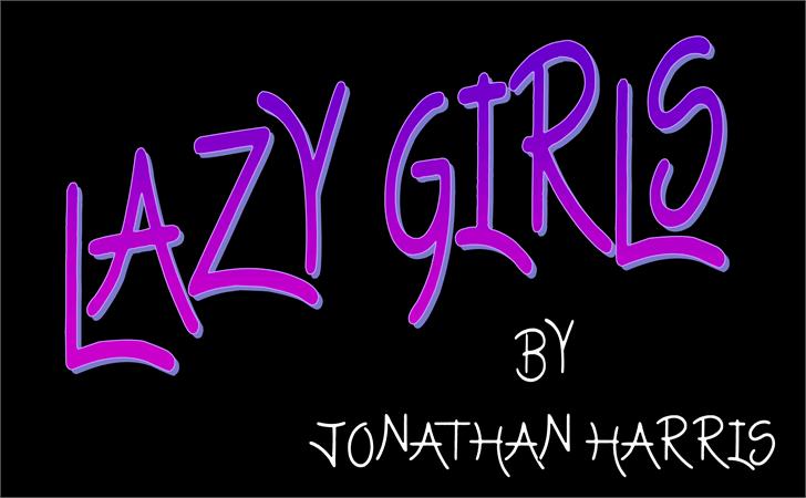 Lazy Girls Font design vector graphics