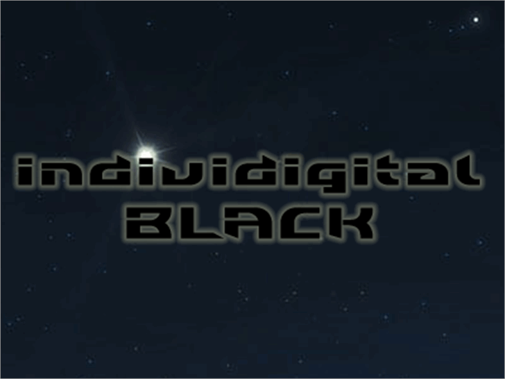 Individigital Black Font screenshot moon