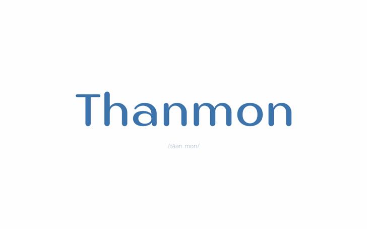 Thanmon Font design