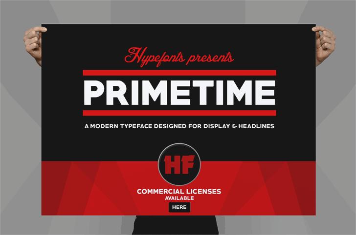 PRIMETIME font by Herofonts
