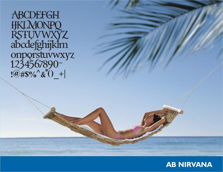 AB Nirvana* Font outdoor beach
