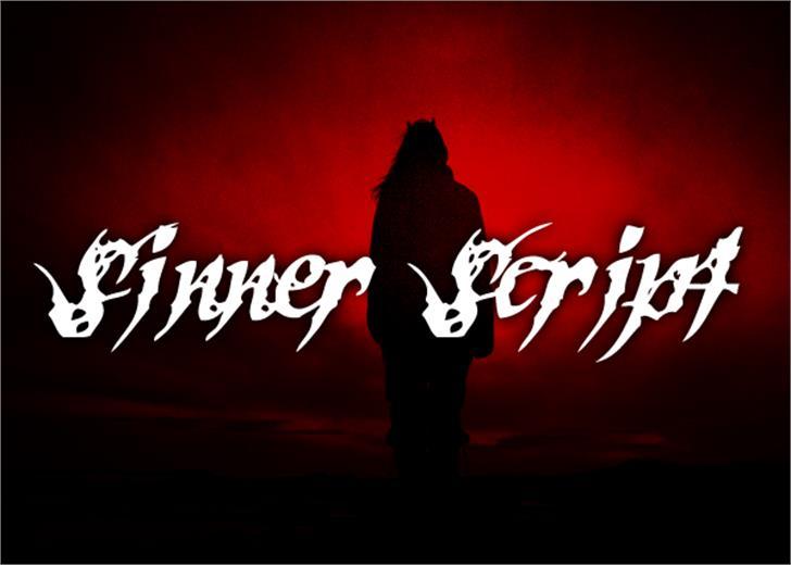 Sinner Script Font dance poster