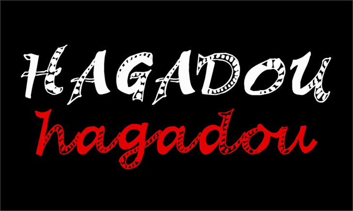 Hagadou Font design graphic