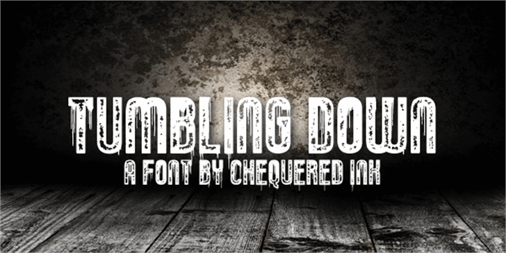 Tumbling Down Font ground poster