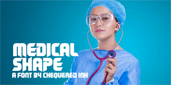 Medical Shape font by Chequered Ink