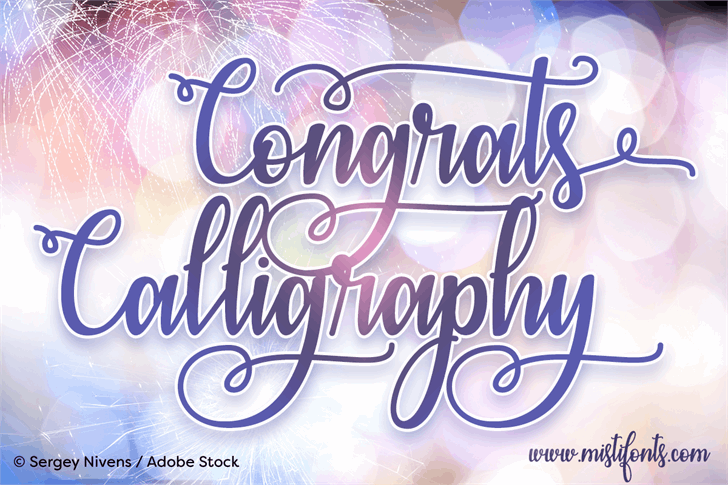 Congrats Calligraphy font by Misti's Fonts