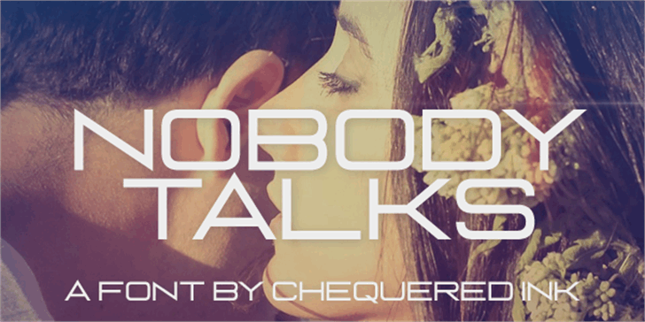 Nobody Talks Font poster screenshot