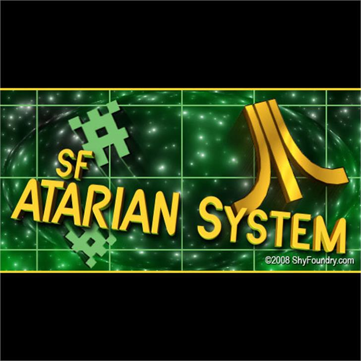 SF Atarian System font by ShyFoundry