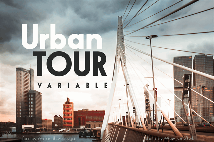 Urban TOUR variable Font sky outdoor