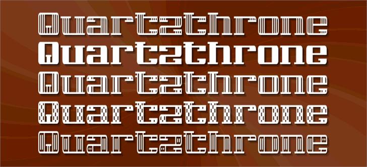 Quartzthrone Font poster