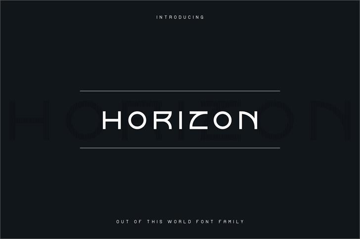 Horizon Font screenshot design