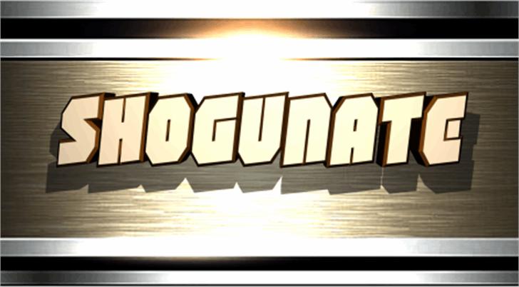 Shogunate Font poster