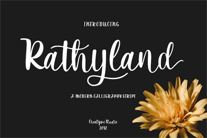 Rathyland Font design flower