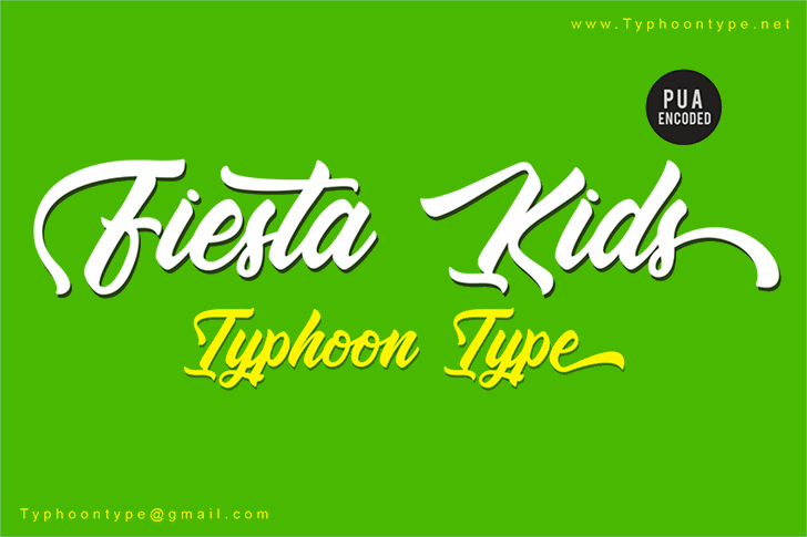 Fiesta Kids - Personal Use Font design typography