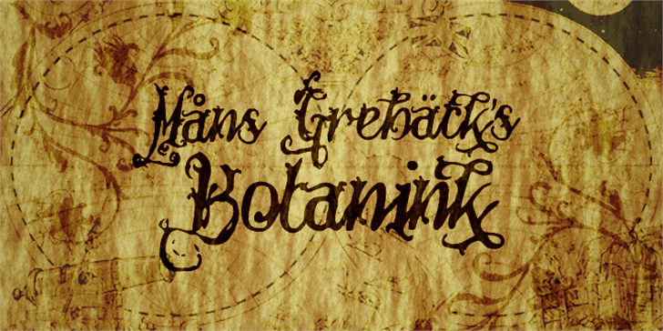 Botanink Font handwriting text