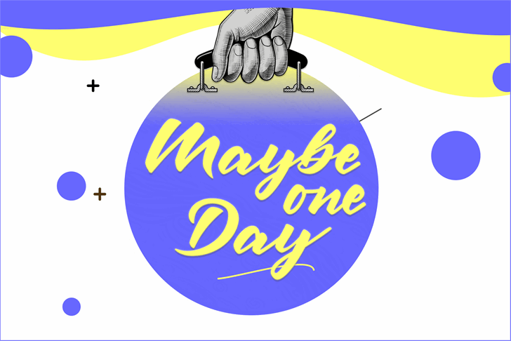 Maybe one Day DEMO Font cartoon design