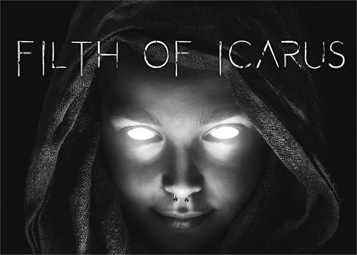 Filth of Icarus Font book poster