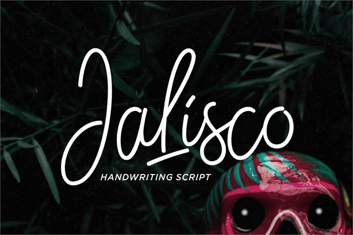 Jalisco Script Demo Font handwriting spectacles
