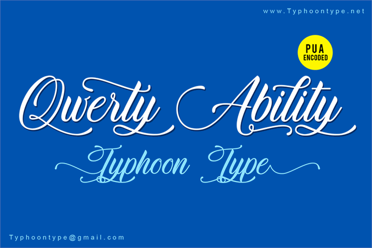 Qwerty Ability - Personal Use font by Typhoon Type - Suthi Srisopha