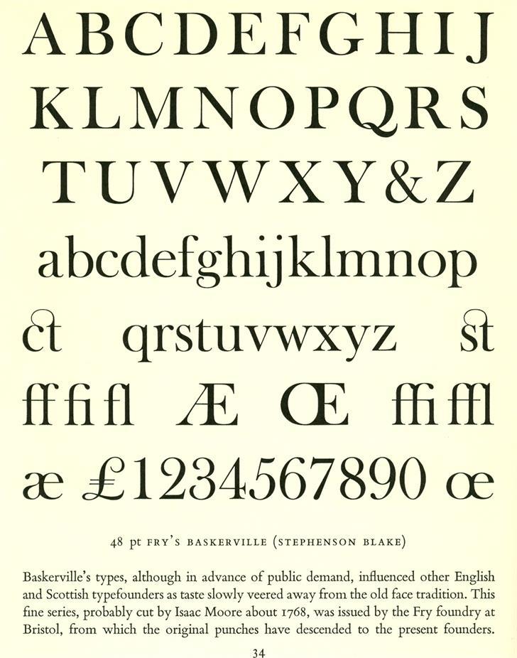 Open Baskerville Font font typography