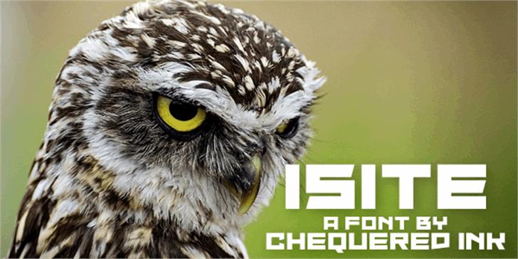Isite Font bird animal