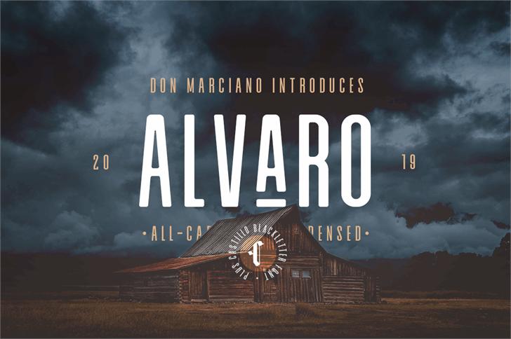 Alvaro Condensed Font screenshot poster