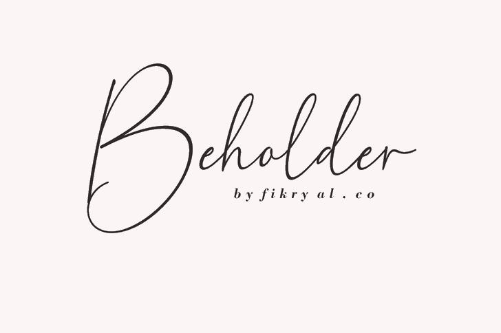 Beholder Font handwriting