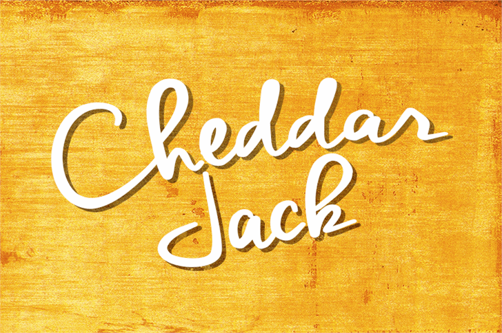 Cheddar Jack Font handwriting typography