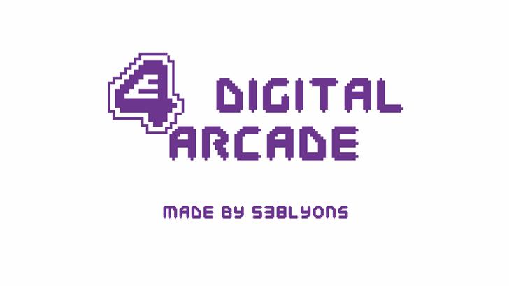 E4 Digital Arcade Font design graphic