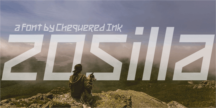 Zosilla font by Chequered Ink