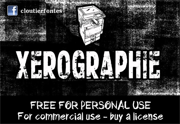 CF Xerography DEMO Font text book